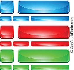 vidro, formas, botão