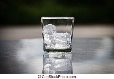 vidro, gelo
