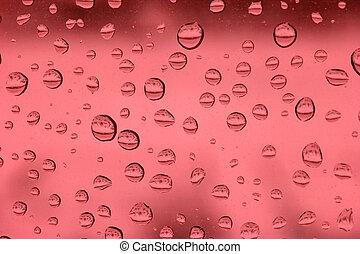 vidro, gotas, chuva