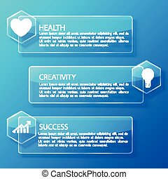 vidro horizontal, infographic, bandeiras, negócio