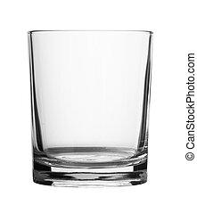 vidro, isolado, vazio
