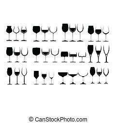 vidro, jogo, vinho