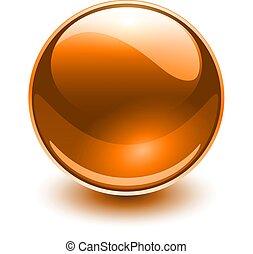 vidro, laranja, esfera
