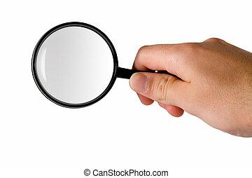 vidro, magnificar, (searching)
