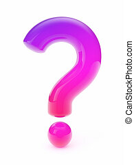 vidro, marca pergunta