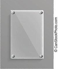vidro, metalic, fundo, painel