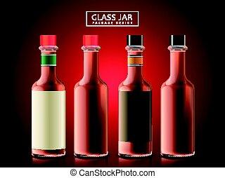 vidro, objetos, garrafa