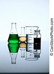 vidro, química, tubos