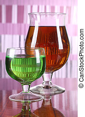 vidro, seis, coctail, copo
