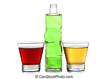 vidro, seis, coquetel