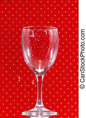 vidro, sobre, transparente, vermelho