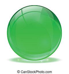 vidro, sphere., 3d