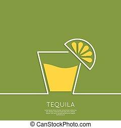 vidro, tequila, lemon.