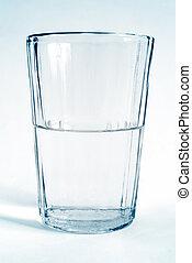 vidro, transparente, copo, com, água