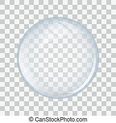 vidro, transparente, esfera