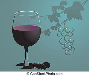 vidro, uva, uvas, suco