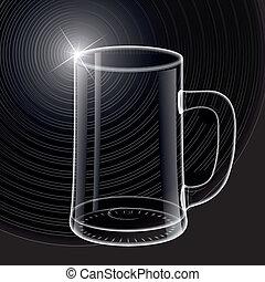 vidro, vazio, cerveja