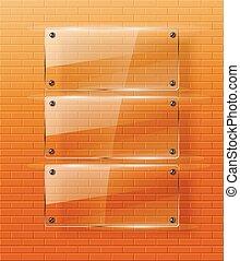 vidro, .vector, illustration., estrutura