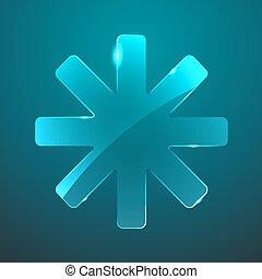 vidro, vetorial, estrela, ícone