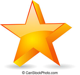 vidro, vetorial, estrela