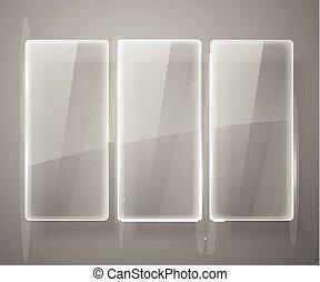 vidro, vetorial, illustration., estrutura