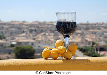 vidro vinho vermelho, e, datas