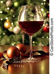 vidro vinho vermelho, ligado, tabela