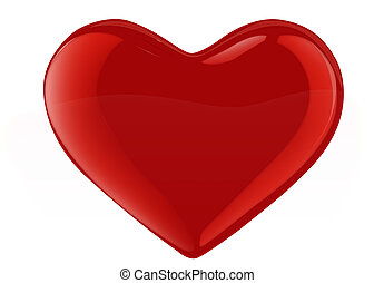 vidro, -, xl, coração