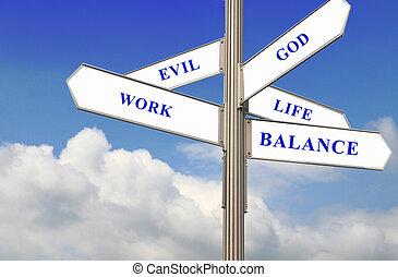 vie, équilibre, travail