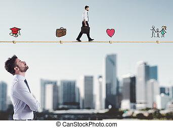 vie, étapes, homme affaires