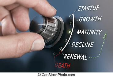 vie affaires, cycle, concept