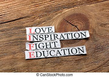 vie, amour, education, inspiration