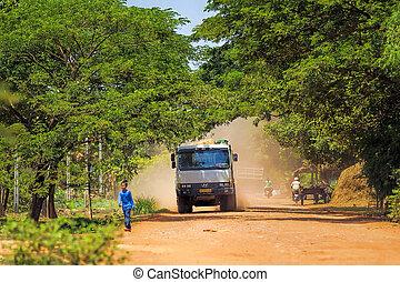 vie, cambodgien, journalier