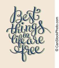 vie, citation, gratuite, pense, conception, inspirationnel, ...