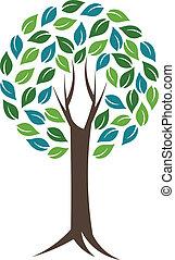 vie, concept, image., nature, life.vector, arbre, mondiale, cercle, icône