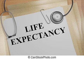 vie, concept, monde médical, attente