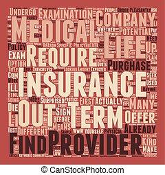 vie, concept, non, texte, monde médical, travail, terme, comment, wordcloud, fond, assurance