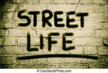 vie, concept, rue
