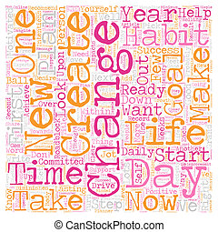 vie, concept, texte, jours, wordcloud, fond, ton, changement