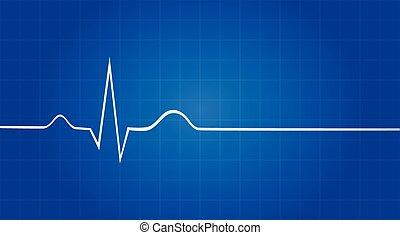 vie, dernier, électrocardiogramme, signe