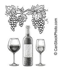 vie, encore, vin