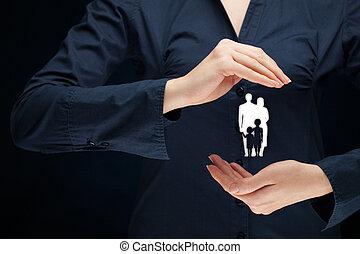 vie famille, assurance, et, politique