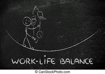 vie, fonctionnement, &, diriger, ju, travail, père, responsibilities:, équilibre