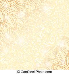 vie, jaune, flowers., fané, encore, carte