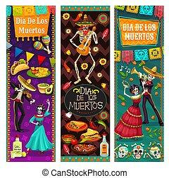 vie, muertos, mexique, danse, de, dia, los, mort