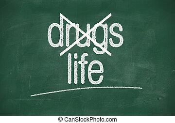 vie, non, choisir, drogues, dire