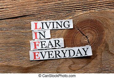 vie, peur, inspiration