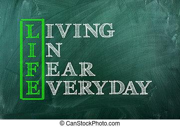 vie, peur