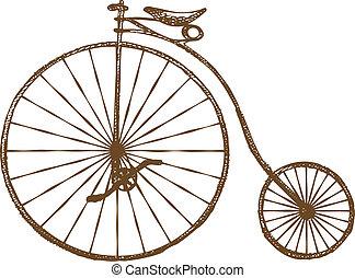 vieille bicyclette, façonné