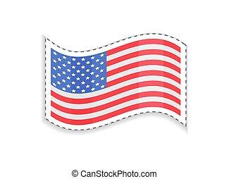 vieille gloire, usa, rectangulaire, drapeau, patriotique, ...
